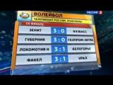 Вести спорт 2013. Волейбол. «Локомотив» выиграл первый бой у «Белогорья»