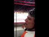 Hear what Ryan White said to Antoine Roussel in th