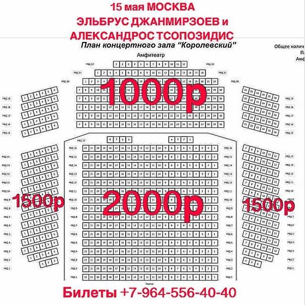 """Схема концертного зала """""""