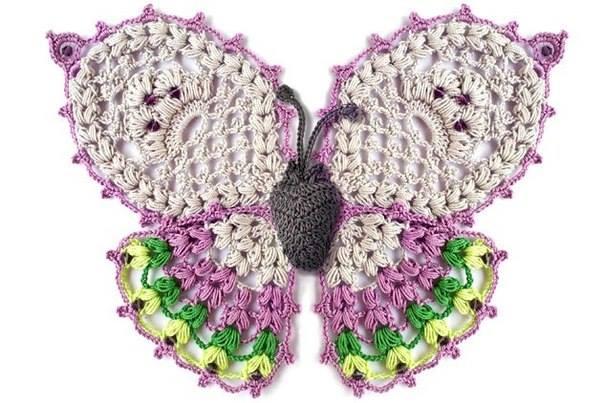 Delicadezas en crochet Gabriela: Mariposas en ganchillo
