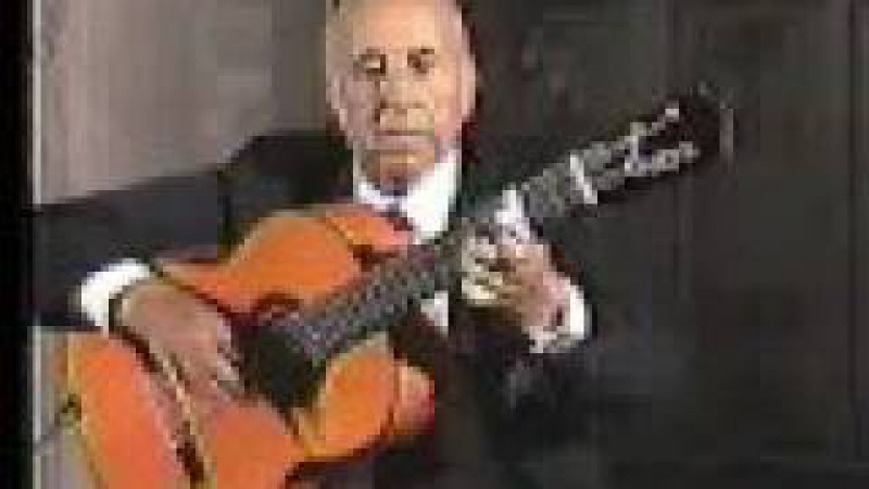 Rare Flamenco Guitar Video: Carlos Montoya - Farruca