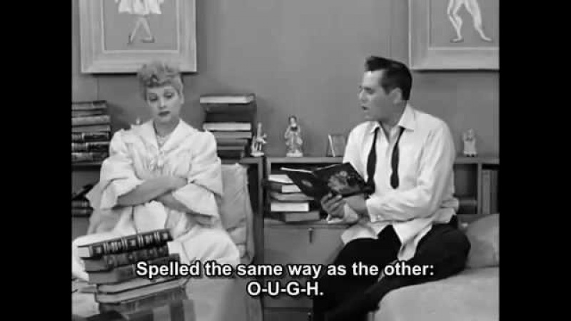 I love Lucy english Pronunciation