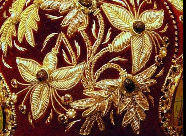 Золотые нити вышивка мастер класс