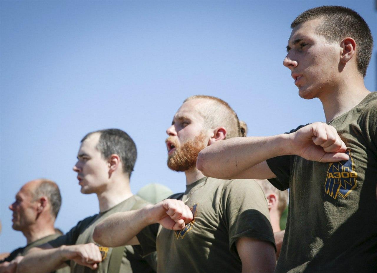 Клятва бойцов Азова в Киеве