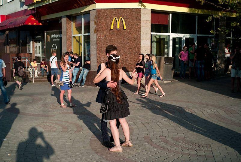 Танец у Мака но на площади Ленина