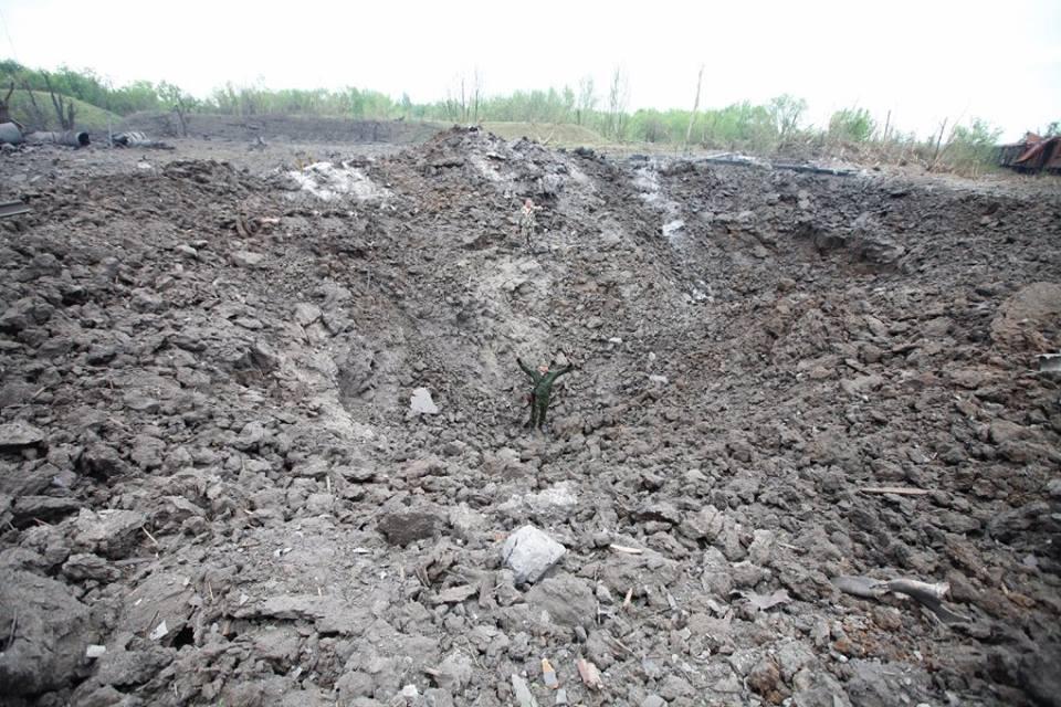 Мощнейший взрыв на окраине Донецка