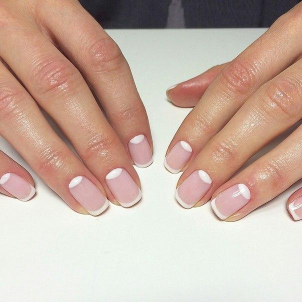 Дизайн на коротких круглых ногтях фото
