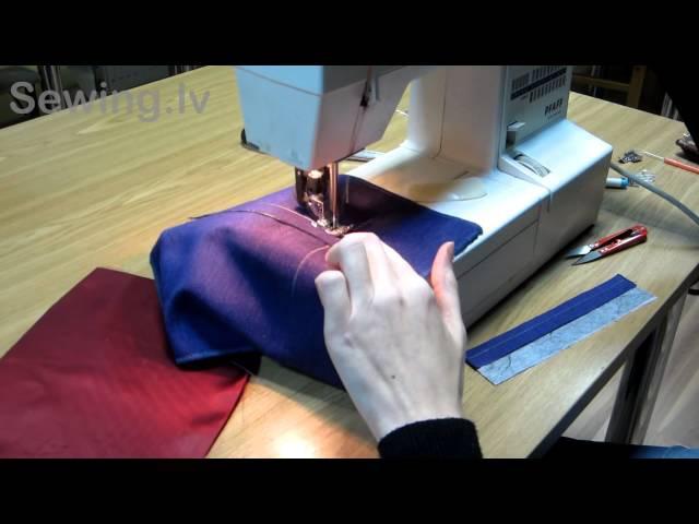 Мастер класс - прорезной карман в рамку на Sewing.lv