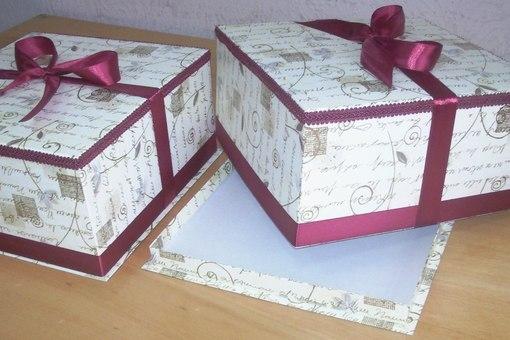 Как сделать коробку для торта своими руками из картона