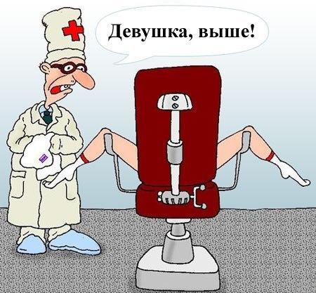 Девушка пришла на прием к гинекологу