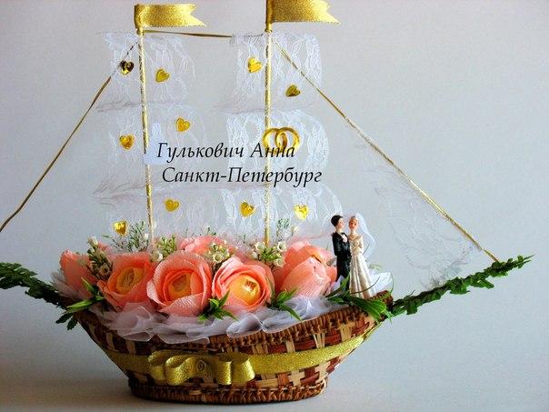 Поздравление на свадьбу к букету из конфет