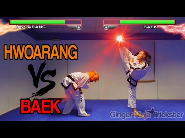 Real Life Tekken Fight HWOARANG Vs BAEK Flips Kicks Alternate Ending