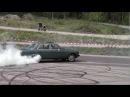 Blue Mercedes Turbo Diesel W123 Burnout Hedemora Sweden