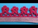 Crochet border Кайма цветочки вязание крючком 336