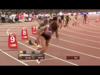 Elaine Thompson Wins Women's 200m Semi Final 1 at IAAF World Championships Beijing 2015