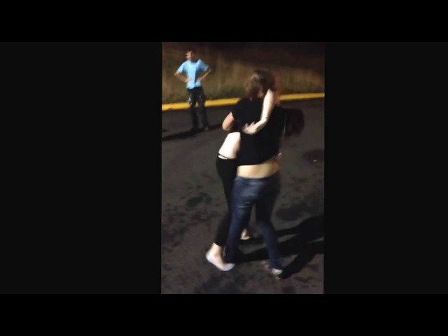 Girl fight behind Home Depot,
