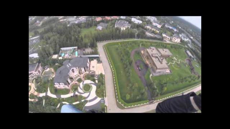 Полет над Рублевкой дачи Шойгу, Воробьева их соседей по Раздорам