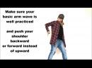 ArmWave Shoulder's impuls (forward,back).Dance Lesson by EHABY.