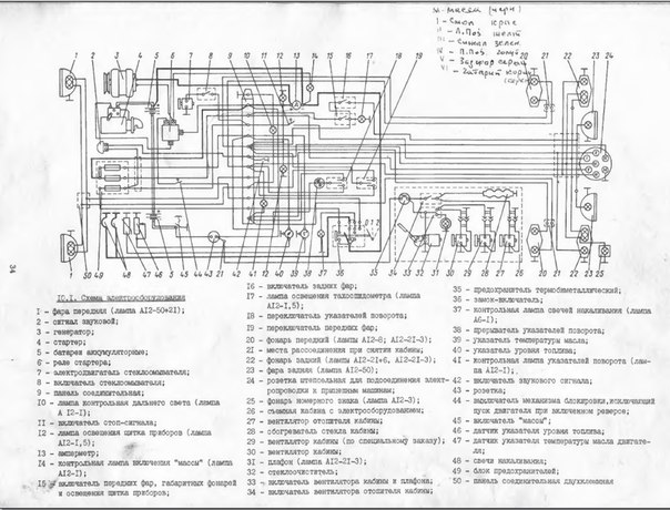 электросхема | Трактор Т-25
