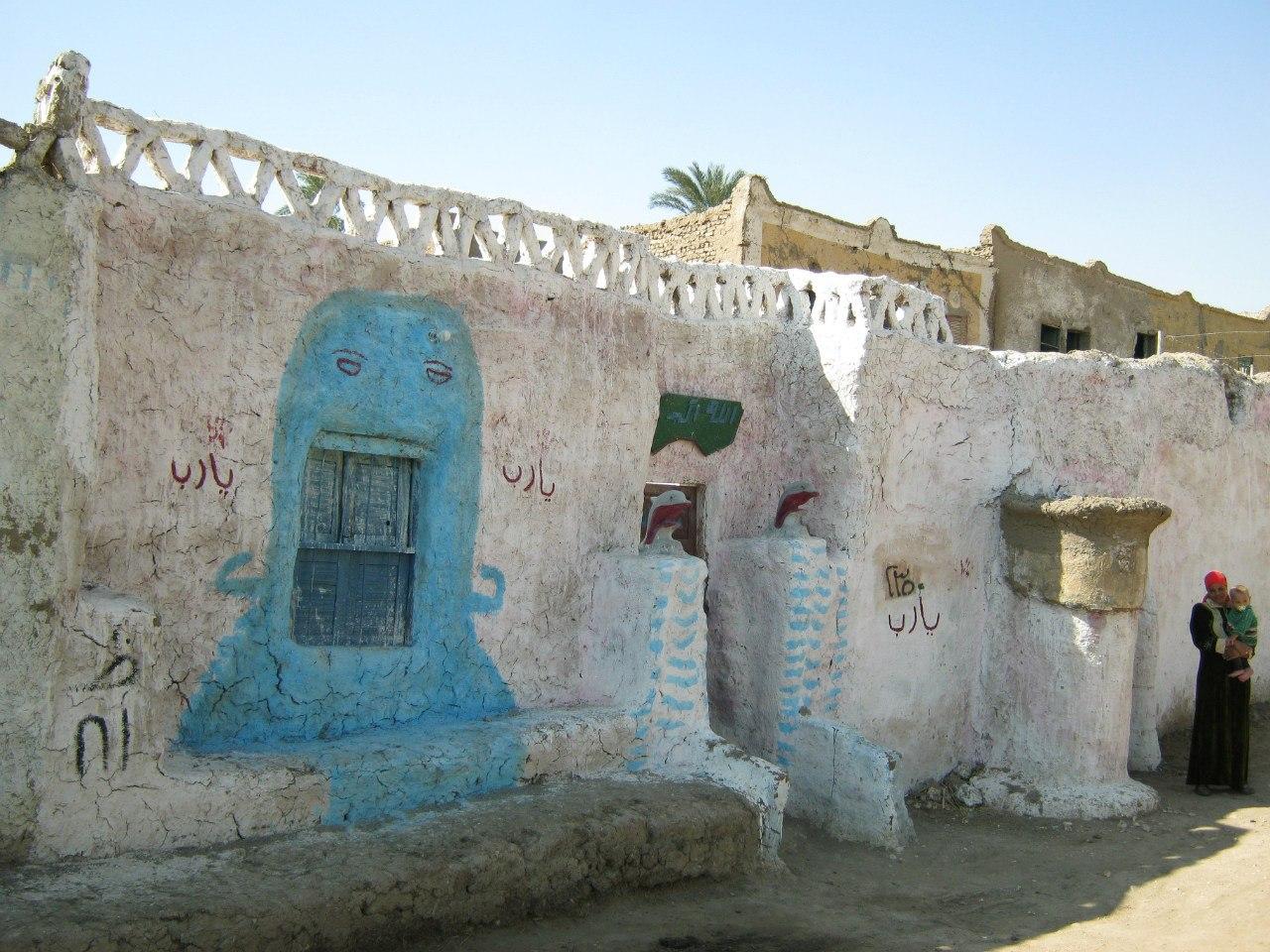 расписные дома в Луксоре