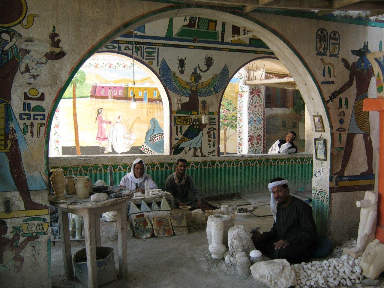Мастерские на западном берегу Луксора