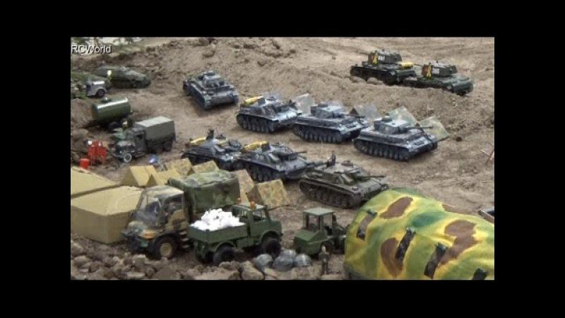 RC Tanks Panzer in Action WW2 ♦ Tiger Leopard ♦ Erlebniswelt Modellbau Erfurt 2015 Modellbaumesse