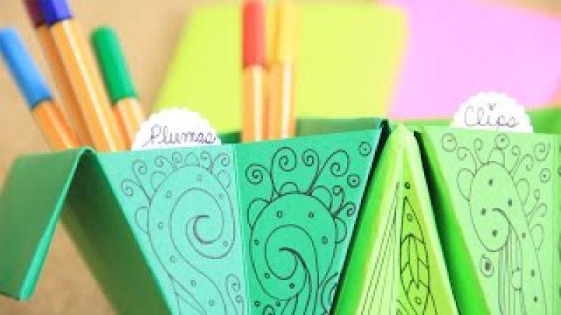 Accordion box: fácil organizador de escritorio - origami acordeón | Craftingeek