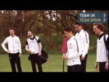 Manchester United stars compete in UK versus Spain Footgolf match during off-season