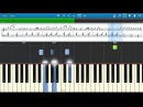 Ray Charles - Hit The Road Jack -- piano tutorial piano lesson Synthesia 100 speed