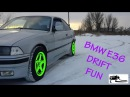 BMW E36 snow Drift fun