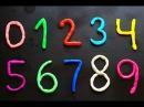 Los números en español para niños. Como hacer los números del 0 al 9 en plastilina Play-Doh.