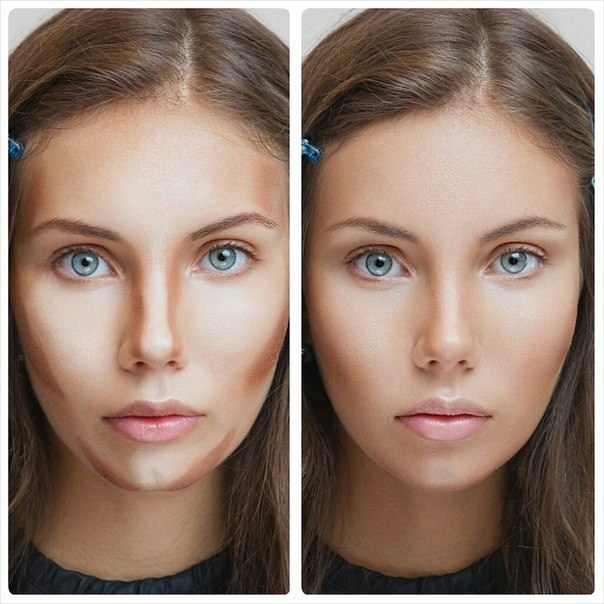 Основа и макияж лица и глаз