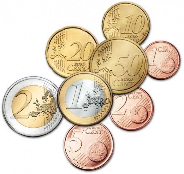 Обменять монеты евро на рубли 5 фунтов стерлингов монета