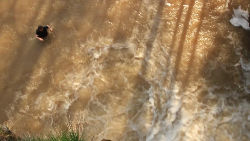 Прыги в водопад Атыш №2, р.Лемеза 3.05.2015 ДМ