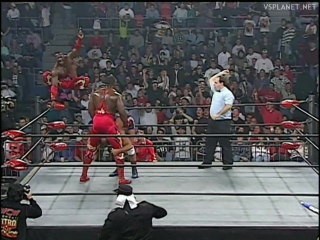 Harlem heat vs amazing french canadians, wcw monday nitro 06.01.1997