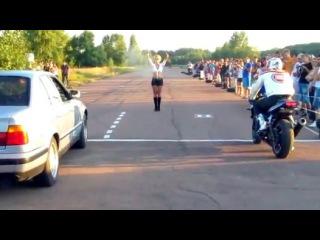 Motosiklet ve Araba Yarışı Kısa Sürdü