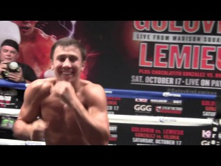 GGG Gennady Golovkin TRAINING for Fight vs David Lemieux!