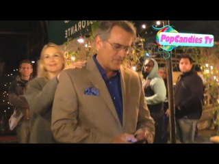 Bruce Campbell on living off the grid in Oregon exiting dinner with friends at Madeo LA