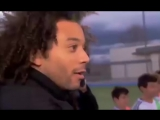 Real Madrid wonderkid Pipi shows off his football skills to Marcelo