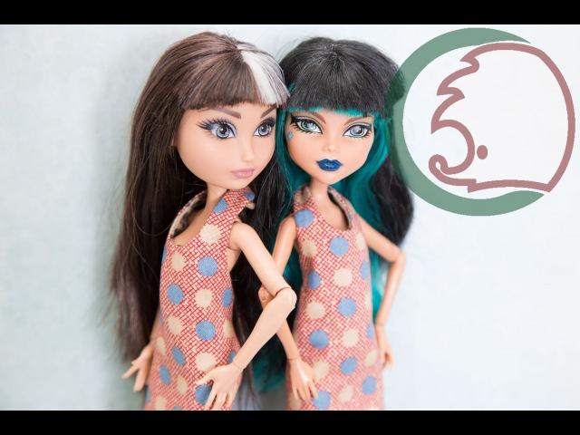 Как сделать кукольное платье на две стороны How to make 2 side dress for a doll