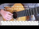 How to Play Malaguena Classical Fingerstyle Guitar Lesson How to Play the Riff Free Tab