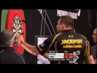 Phil Taylor v Adrian Lewis (2015 Premier League Darts / Week 12)