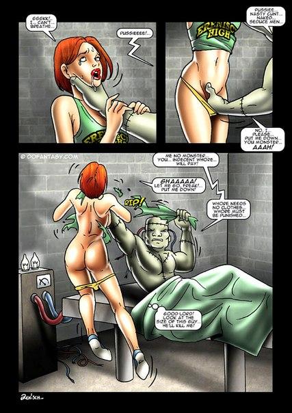 смотреть комиксы порно с монстрами
