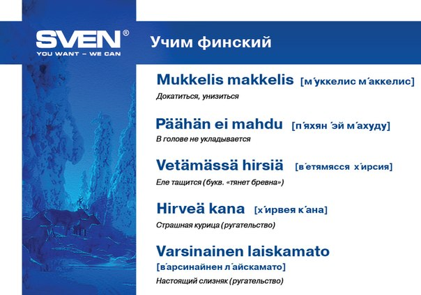 SVEN - YOU WANT - WE CAN!