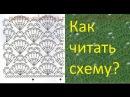 Как читать схемы вязания крючком Узор Веера