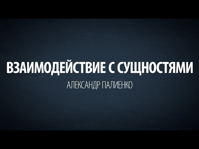 Взаимодействие с Сущностями. Александр Палиенко.