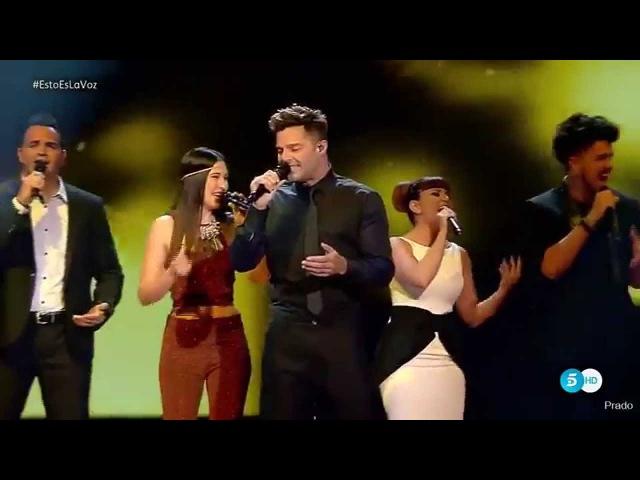 Шоу Голос Испания. - Рики Мартин с песней Выстрел в сердце. – The Voice Spain 2015. - Ricky Martin performing «Disparo Al Corazon» (оригинал Ricky Martin)