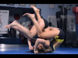 Turtle position front flip - Girl Fight Move- UFC Edith Labelle- MMA Candy