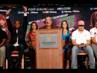 Bradley vs. Rios: Bob Arum - Presser Interview - High Praise