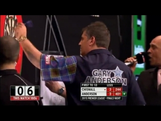 Dave Chisnall v Gary Anderson (2015 Premier League Darts / Semi Final)
